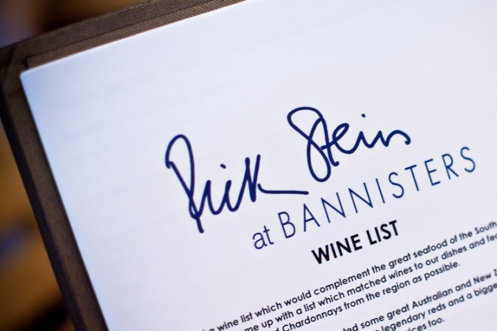 wine list bannisters